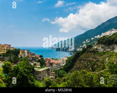 View of Vietri sul Mare,Salerno province,Sorrento peninsula,Amalfi coast,Campania,Italy - Stock Photo