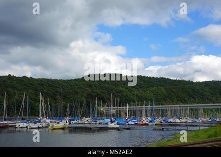 water reservoir bigge in germany - Stock Photo