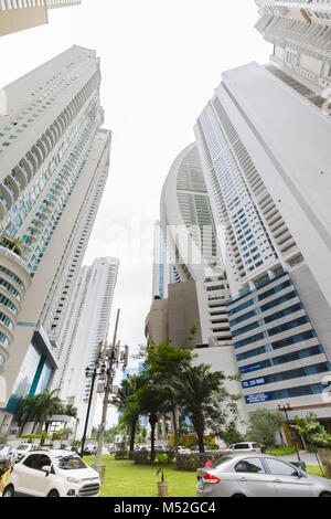 Punta paitilla panama city particular skyline view from below - Stock Photo