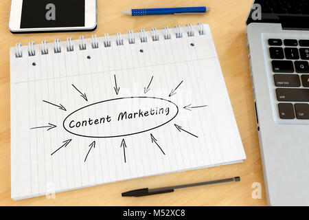 Content Marketing text concept - Stock Photo