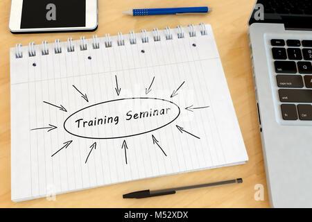 Training Seminar text concept - Stock Photo