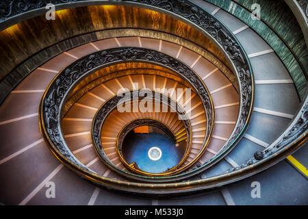 Vatican Museum Stairs - Stock Photo