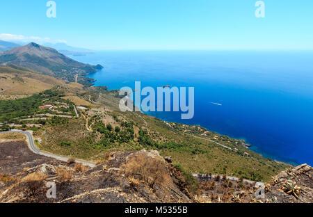 Tyrrhenian sea coast near Maratea, Italy - Stock Photo