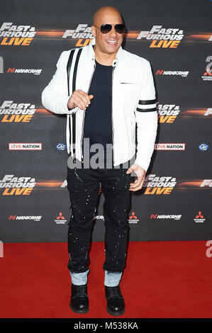 Red carpet arrivals for the world premiere of Fast & Furious Live  Featuring: Vin Diesel Where: London, United Kingdom - Stock Photo