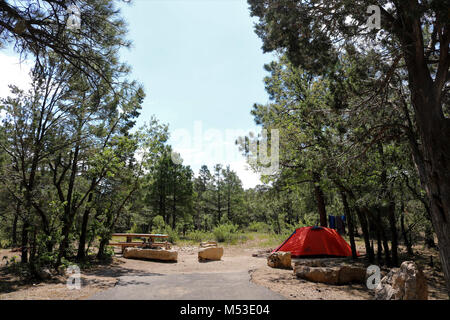 Grand Canyon National Park Mather Campground . Mather Campground Tent Site  - No hook-ups. - 30-foot trailer or - Stock Photo