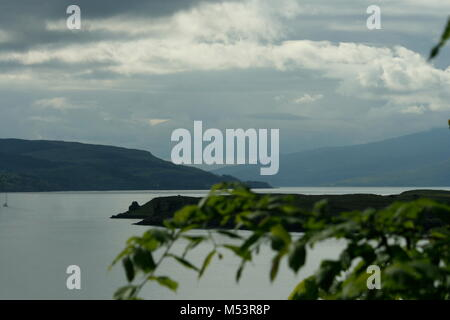 Storm Rolling Over Bay in Oban, Scotland - Stock Photo