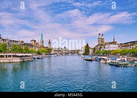 Panoramic View of Zurich - Stock Photo