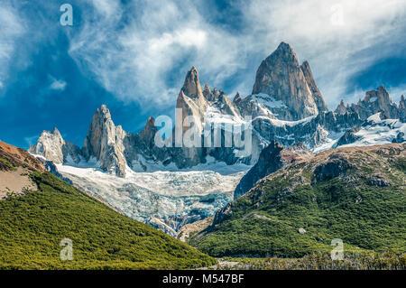 Fitz Roy mountain, El Chalten, Patagonia, Argentina - Stock Photo