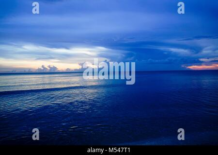 Island Sunset over the Gulf of Mexico - Stock Photo