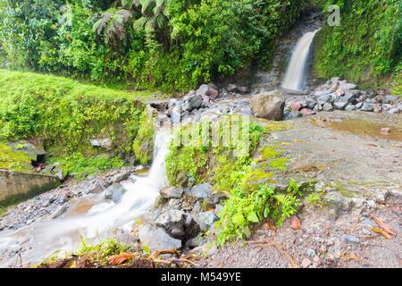 waterfalls rio on the volcan baru trail chiriqui panama - Stock Photo