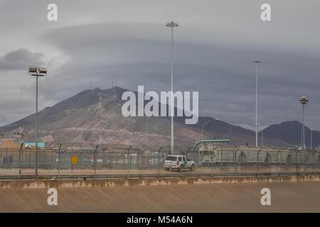 El Paso Border Fence - Stock Photo
