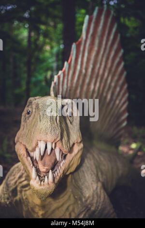 Spinosaurus dinosaur statue - Stock Photo