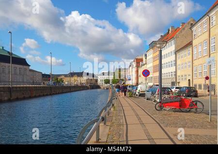 Gammel strand on the Slotsholmens Canal  in Copenhagen - Stock Photo