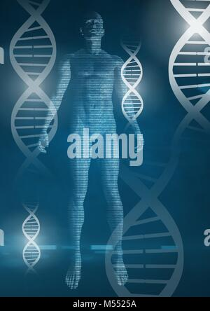 Human genetic DNA health and fitness interface - Stock Photo