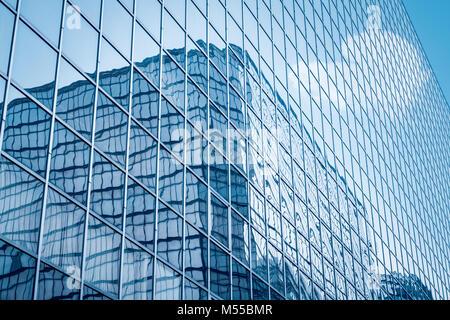 glass curtain wall closeup - Stock Photo