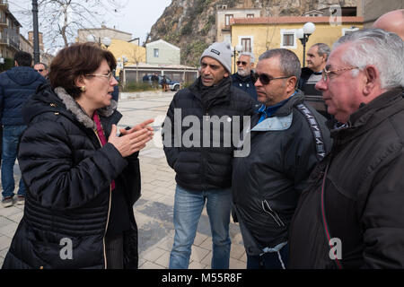 Rossano, Silvana Rosa Abate, candidate to the Senate for the 5 Star Movement for the general elections of March - Stock Photo