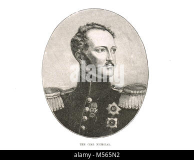 Czar Nicholas I of Russia, 1796-1855,  Emperor of Russia, reigned 1825-1855, King of Poland and Grand Duke of Finland - Stock Photo