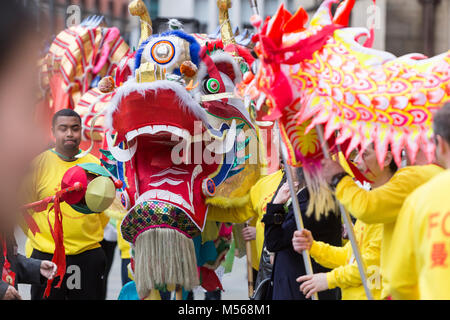Chinese New Year 2018 celebrations in Manchester - The Year of the Dog. - Stock Photo