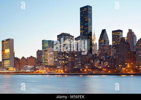 Skyline of midtown, Manhattan, New York City, NY, USA - Stock Photo