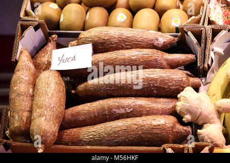 Yucca - Mercado de Tirana Market Hall - Stock Photo