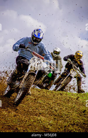 Motor Bike Scramble at Blencarn, Near Penrith, Cumbria - Stock Photo
