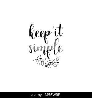 Keep It Simple Lettering Design For Banner Poster Card Invitation Flyer Brochure