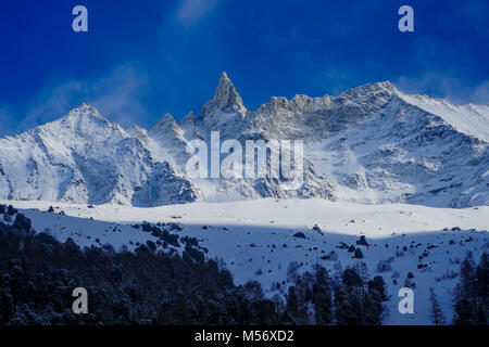 Aiguille de la Tza, Valais, Swiss - Stock Photo