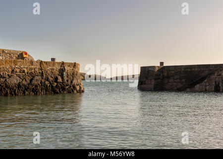 Coliemore Harbour is located in Dalkey (south Dublin). Furthermore, in the Middle Ages, Coliemore was the main harbour - Stock Photo