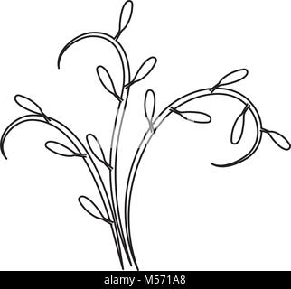 floral vector illustration - Stock Photo