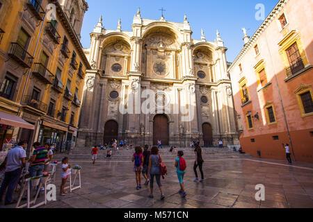 GRANADA, SPAIN JUNE 23, 2016 - Metropolitan Cathedral of the Incarnation, Granda, Spain Europe - Stock Photo