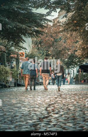Skadarlija street in Belgrade, Serbia - Stock Photo