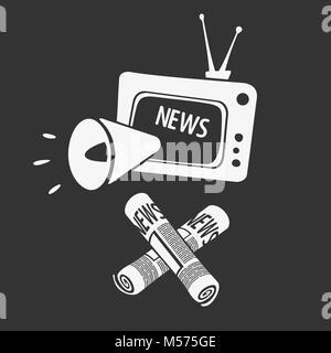 Symbol of Media Propaganda - Stock Photo