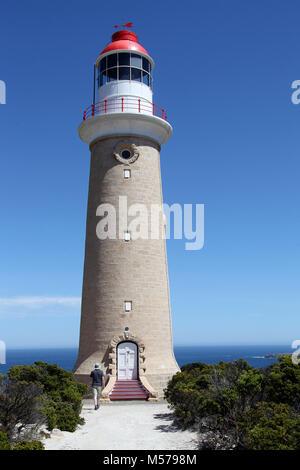 Cape du Couedic Lighthouse on Kangaroo Island - Stock Photo