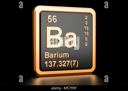 Symbol Of The Chemical Element Barium Stock Photo 143976768 Alamy