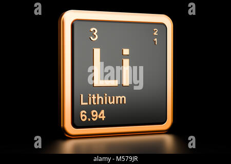 Lithium li chemical element periodic table 3d render stock lithium li chemical element 3d rendering isolated on black background stock photo urtaz Image collections