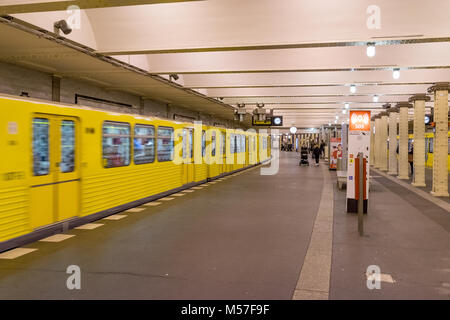 BERLIN - OCTOBER 20, 2016: People at the Klosterstrasse Metro Station in the Berlin on Octomber 20, 2016. - Stock Photo