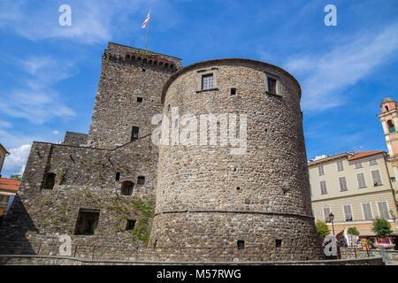 Fieschi Castle in Varese Ligure, La Spezia province, Italy. - Stock Photo