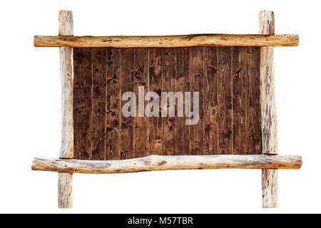 The frame made from oak logs - Stock Photo