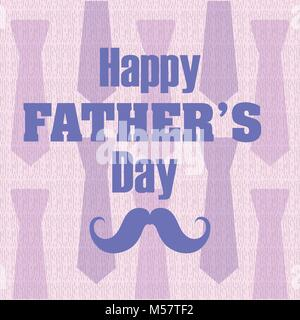 Happy fathers day card - Stock Photo