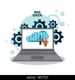 Big data technology - Stock Photo