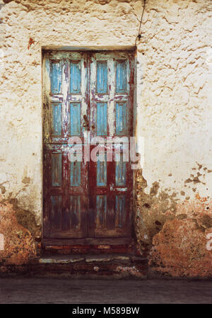 San Cristobol de las Casis in Chiapas, Mexico colorful buildings, doors and windows. - Stock Photo