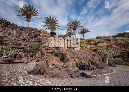 Famous landmark Los Jameos del Agua in Lanzarote, Canary islands, Spain. - Stock Photo