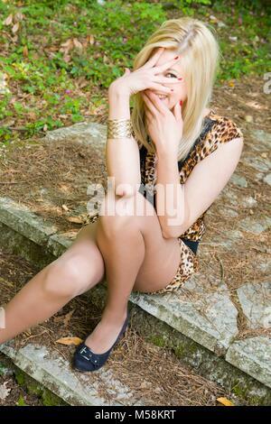 Young woman legs heels images alpfabet - Stock Photo
