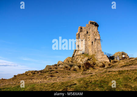 The ruins of the medieval tower of Mow Cop, in Cheshire United Kingdom. - Stock Photo