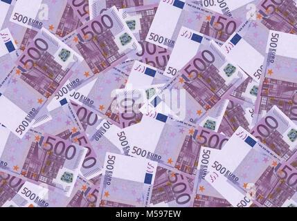 500 euro cash background money financial concept. - Stock Photo