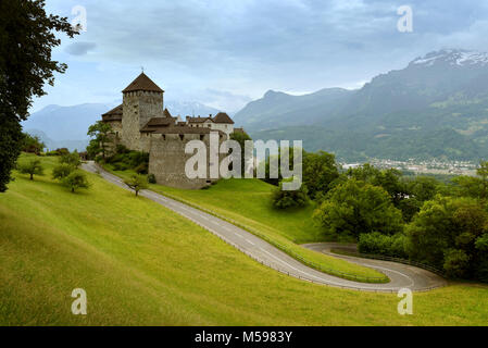 Vaduz, Liechtenstein. This castle is the palace and official residence of the Prince of Liechtenstein - Stock Photo