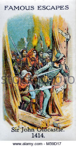 Famous Escapes - Sir John Oldcastle 1414 - Stock Photo