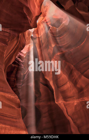 Slot Canyons in the Upper Antelope Canyon on the Navajo Nation in Arizona. - Stock Photo