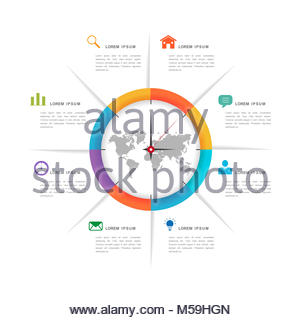 Vector pie chart infographic design template stock vector art simplicity infographic design with pie chart elements stock photo ccuart Image collections