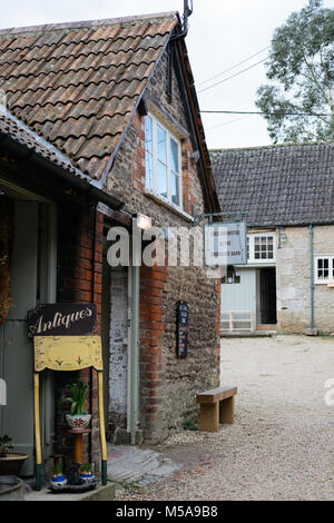 Facade of Coco Chemistry, a small-batch award winning artisan chocolatiers, in the National Trust village of Lacock, - Stock Photo